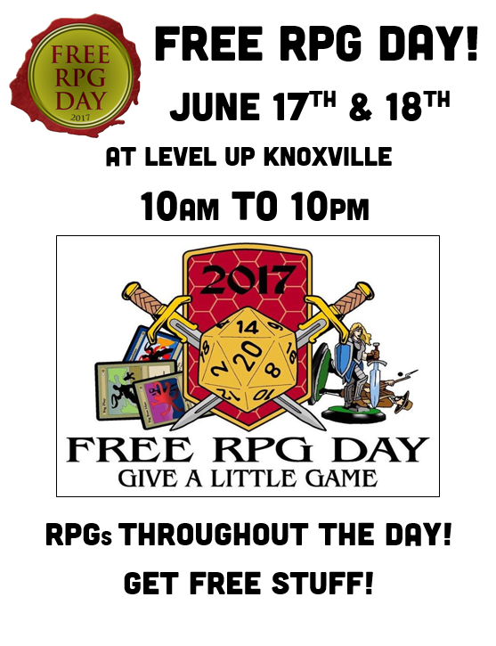 Free RPG Day - June 17th and 18th